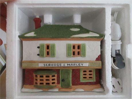 Vintage Dept 56 Dicken's Scrooge & Marley Counting Heritage  Village Collectible