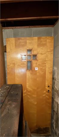 Two Large Wood Doors - (See Description Below)