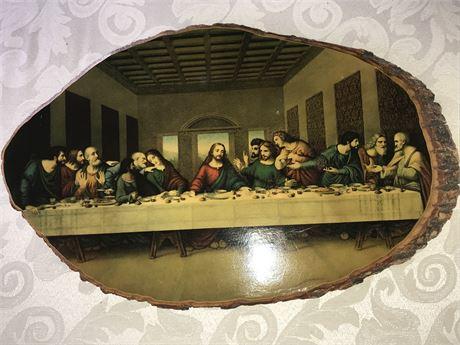 Last Supper Print on Wood