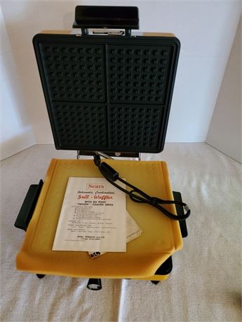 Vintage Sears Automatic Combination Waffler & Griddle
