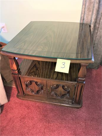 Wood and Laminate End Table