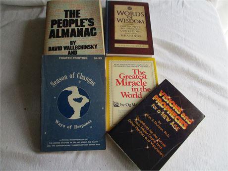 Vintage 1970's People Almanac Words of Wisdom Seasons of Change Prophecies Book