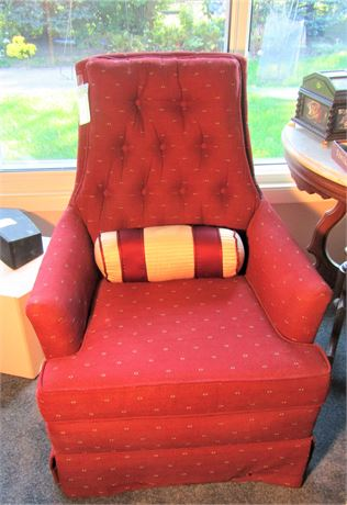 Upholstered Swivel Rocking Arm Chair