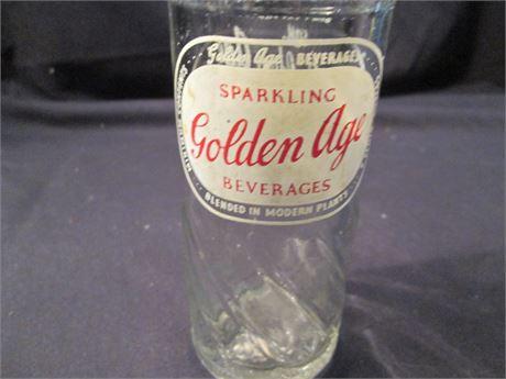 """Vintage """"Golden Age"""" Soda Pop Beverage Bottle Collectible"""