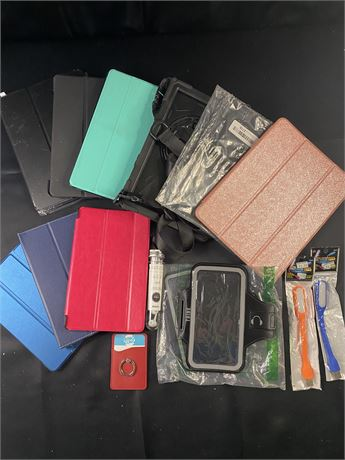 Tablet and phone accessories. 15+ items.