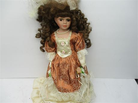 """Vintage Like New Genuine Emerald Collector's 16""""  Brown Eye Doll"""