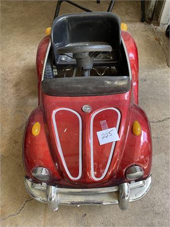 VW Red Beetle or Porsche Junior Sportster Metal Pedal Car Rare #2