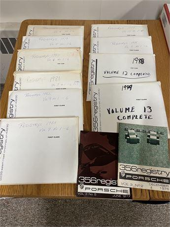 Rare Porsche 356 Registry Magazines 1978-1989 (volumes 4-13 complete)