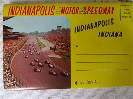 Vintage 1963 Original 47th Indianapolis Souvenir Post Card Packets LOt