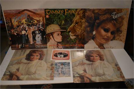 Lot of Tammy Faye Bakker records/Gospel music (2 factory sealed) PTL ephemera