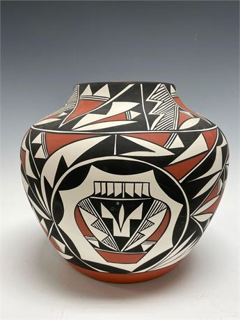 Native American Pottery Acoma By Lille Concho - (American 20th Century Pottery)