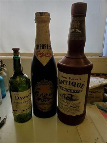 3 Vintage Advertising Bottles