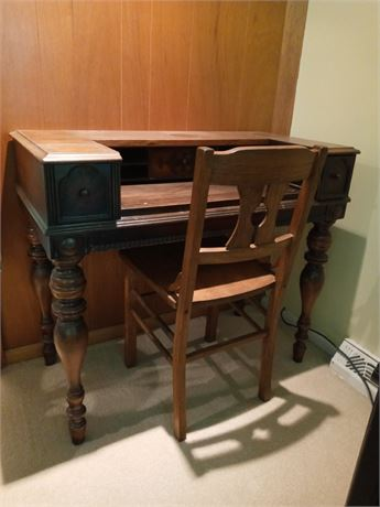 Writing Desk & Chair - Antique