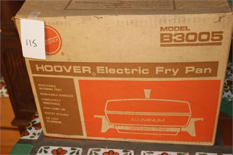 Vintage Hoover Electric Fry Pan B3005 NIB