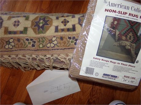Oriental Rug and Rug Mat