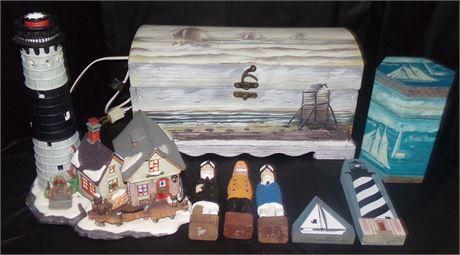 Lighthouse and nautical decor