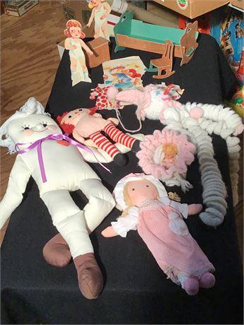 Soft Body Dolls and Paper Dolls