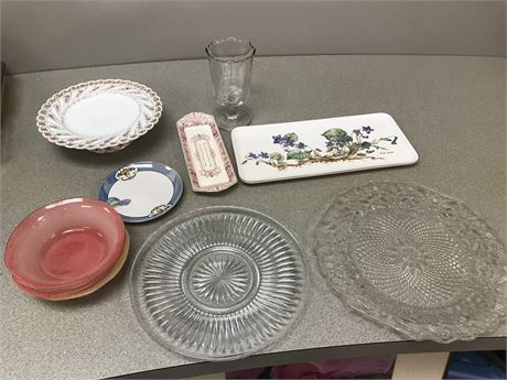 Fine Porcelain, Glass & Crystal Lot