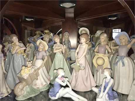 Porcelain Figurine Lot (13)