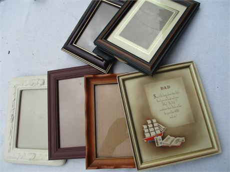 Nice Assorted 6 pcs  Assorted Size Picture Frames Lot