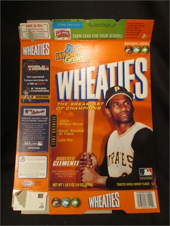 New Opened Flat Roberto Clemente MLB Wheaties Cereal Box