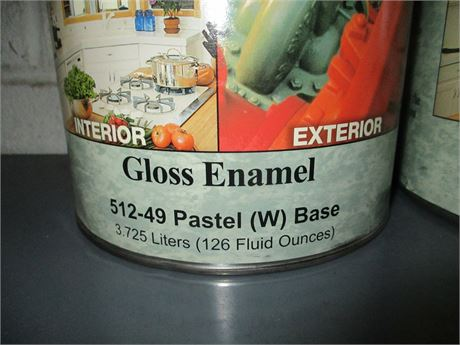 2 Gallons Graham Aqua Borne Ceramic Pastel Gloss Enamel Base