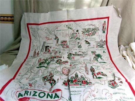 Vintage Arizona Cactus Cloth