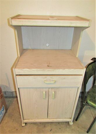 Microwave Cart With Cabinet