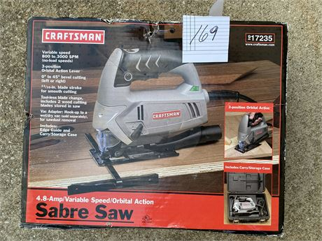Classic Sabre Saw 4.8 Amp - New In Box