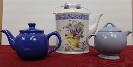 3 Teapots- One is from Hallmark- Marjolein Bastin