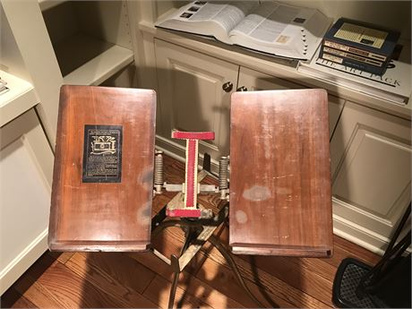 Antique Bookstand by L W Noyes - Chicago with American Heritage Dictionary