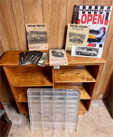 Porsche and Volkswagen Lot including Bookshelf (See Description)