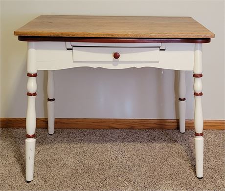 Pull-Out Drop-Leaf Table - Antique