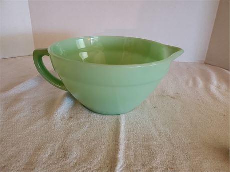 Vintage Fire King Jadeite Mixing cup w/ Handle & Pour Spout