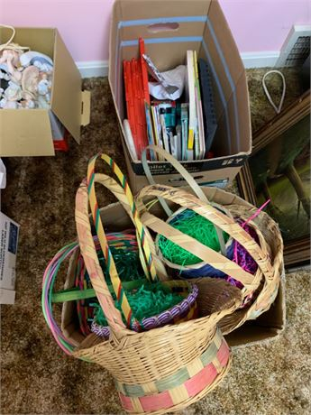UPSTAIRS BASKET BOOKS & MICKEY MOUSE LOT