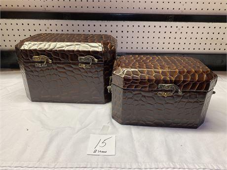 Matching Crocodile Themed Decorative Boxes