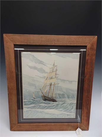 """Alan Sundal Watercolor """"The Black Pearl"""""""