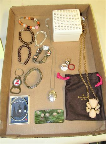 Kate Spade Necklace and Ceramic Box Jewelry Lot