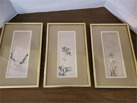 Asian Wall Art Birds + Trees