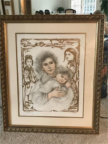 Edna Hibel (1917-2014) Signed and Framed Artist Proof