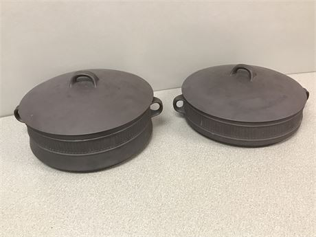 2 Dansk Firestone Stoneware Covered Casserole Pieces