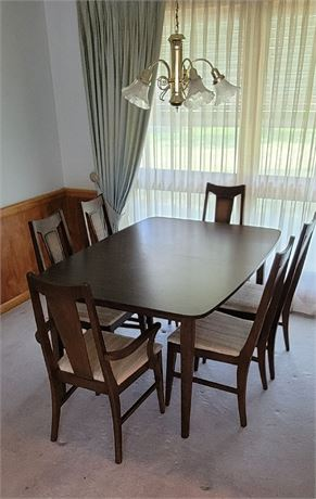 MCM Dining Set with 6 Chairs