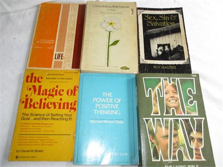 vintage The way Bible Magic of Believing Life is Tremendous Religious Books Lot