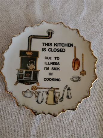 Funny Vintage Plate / Wall Hanging