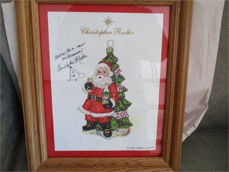 Christopher Radko Autographed Ornament 2000 Art Postcard Limited w/ COA