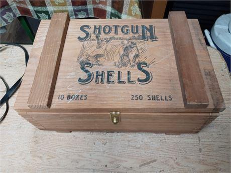 Shotgun shell wood box