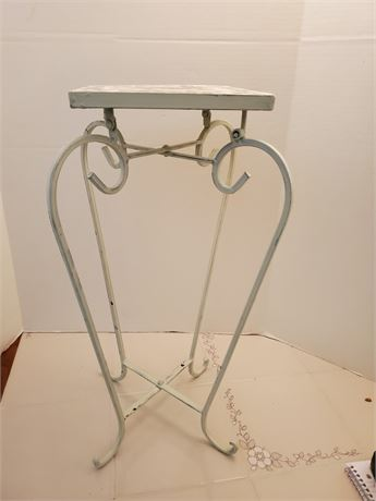 Metal Stand w/  Mosaic Tile Top