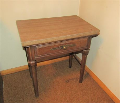 Solid Wood Side Table with One Drawer
