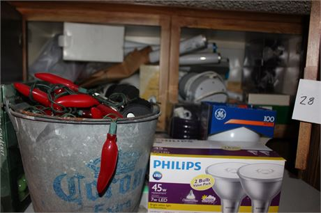 Contents of Cupboard Light Bulbs