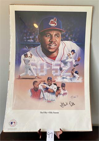 Albert Belle Signed Poster - Unopened